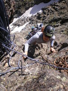 Rock Climbing Photo: Laura approaches the 2nd belay station (July 19, 2...