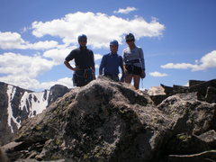 Rock Climbing Photo: Ralph, Phil, and Laura on the summit (July 19, 200...