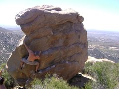 Rock Climbing Photo: trying variations on Big Horn (5.9), Mount Woodson...