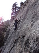 Rock Climbing Photo: Getting some nice, mid-November sun to keep the bl...
