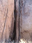 Rock Climbing Photo: Looking at the double cracks of Felch