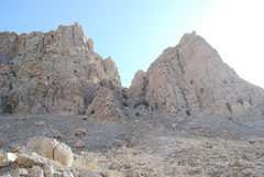 "Rock Climbing Photo: This is the approach to the base of the ""Nort..."
