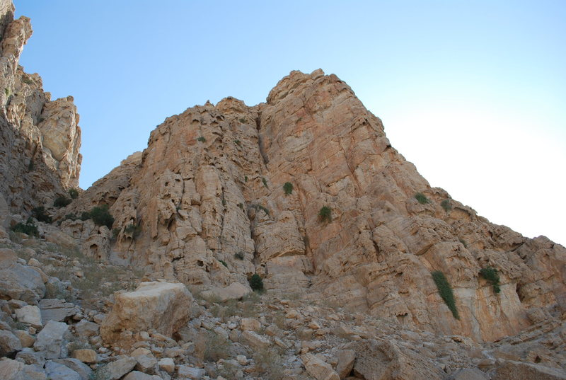 "This is a picture of the ""North Face"" and the gully to the left."