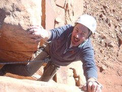 Rock Climbing Photo: Topping out on Crack Wars