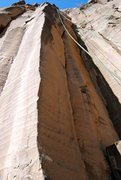 Rock Climbing Photo: Splitter crack located on the right in the shade. ...