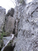 Rock Climbing Photo: I climbed up this free solo on the pillar's right ...