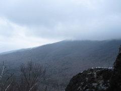 Rock Climbing Photo: Below the top of the pillar.