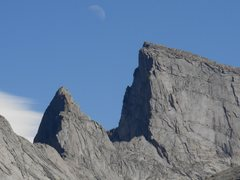 Rock Climbing Photo: Steeple and E. Temple, with the Spire blending int...