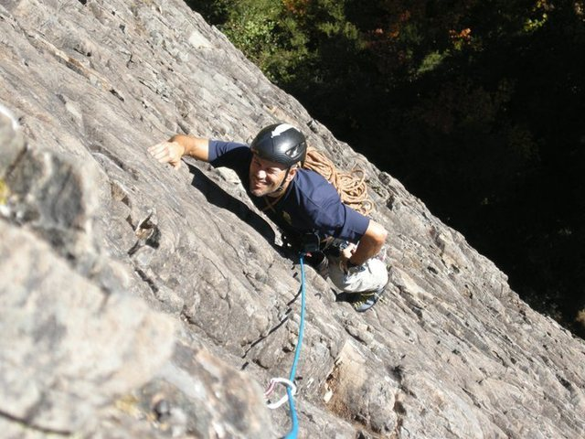 Rock Climbing Photo: Following on the first pitch of Space Cowboy