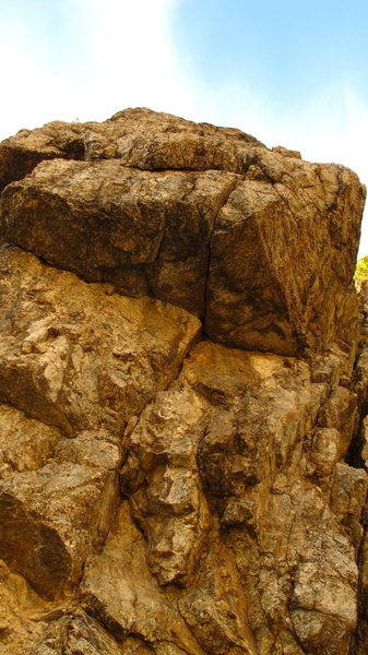 Rock Climbing Photo: This is the main but crack.   I have not put the r...