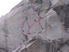 Rock Climbing Photo: Route 1 is The Flakes Route 2 is Gran Hermano Rout...
