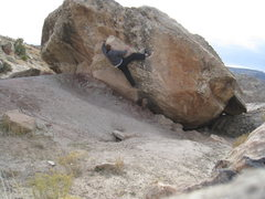 Rock Climbing Photo: Using the hueco to my advantage.