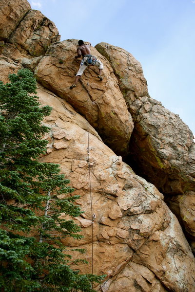 Rock Climbing Photo: Reach for the sky.