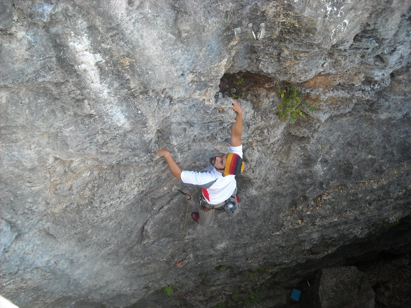 Rock Climbing Photo: Rod redpointing Warg Riders.