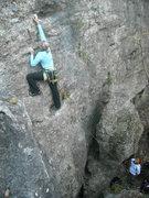 Rock Climbing Photo: Nikki going for the redpoint on Grendel.