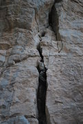 Rock Climbing Photo: I would say that this route has two possible crux'...