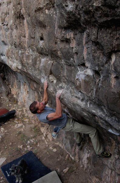 Rock Climbing Photo: Wade making it hard!