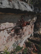 Rock Climbing Photo: Joel getting after it, after a full day of sending...