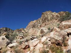 Rock Climbing Photo: S Face of Windy Peak (center of photo)