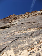 Rock Climbing Photo: right angling crack on P1