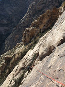 Rock Climbing Photo: Jascha at the corner on P2