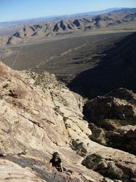 Rock Climbing Photo: Jascha enjoying a perfect Nov day