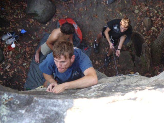 Me climbing Sandrock, AL