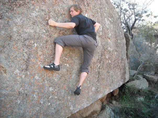 Rock Climbing Photo: Big crimpin' on Idaho.