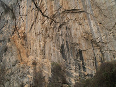 Rock Climbing Photo: left side of the canyon as you enter