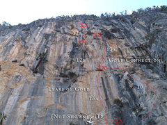 Rock Climbing Photo: The upper portion of the route