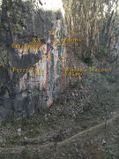 Rock Climbing Photo: Right side of La Boca Canyon near the entrance.