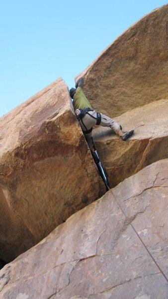 Rock Climbing Photo: Getting into the wide