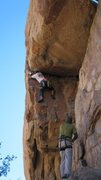 Rock Climbing Photo: About to pull the lip