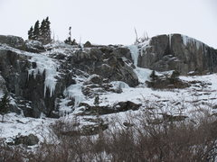 Rock Climbing Photo: Ice conditions on 11/21/10, right side of main gul...