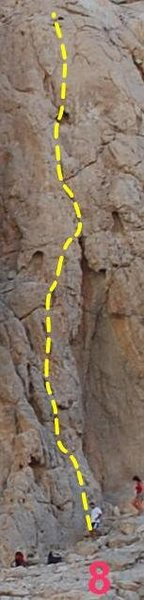 Rock Climbing Photo: Here is a topo for this individual route.