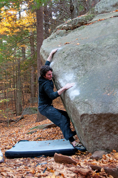 Rock Climbing Photo: The crux...