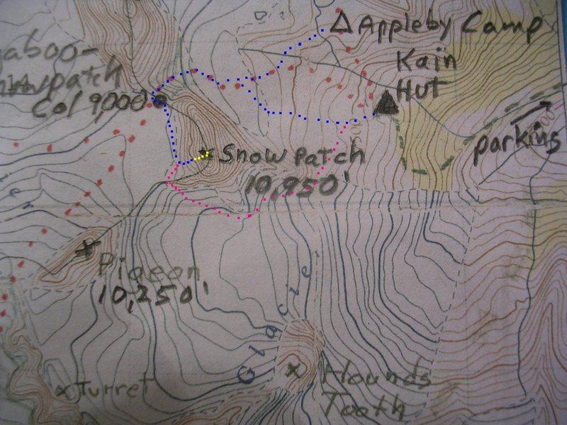 Rock Climbing Photo: Map for Kraus-McCarthy contour interval : 100 feet...