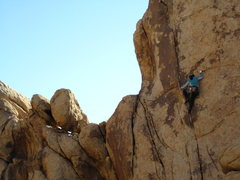 Rock Climbing Photo: Eileen on Vorpal Sword, Joshua Tree