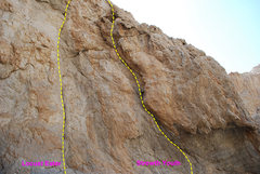 Rock Climbing Photo: Here is a close up of the start of the route.