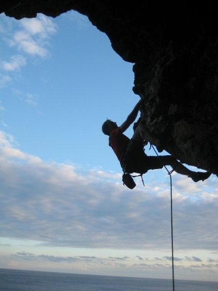 Rock Climbing Photo: same climb. One move later. We climbed this the fi...