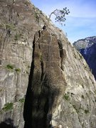 Rock Climbing Photo: The summit of Split Pinnacle. Descend by rappellin...