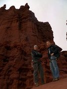 Rock Climbing Photo: Standing at the Base of Ancient Art