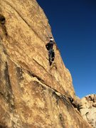 Rock Climbing Photo: Burring through the first crux.