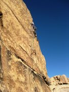 Rock Climbing Photo: Entering the second mantle crux.