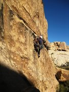 Rock Climbing Photo: Trying to keep it together above the small gear at...