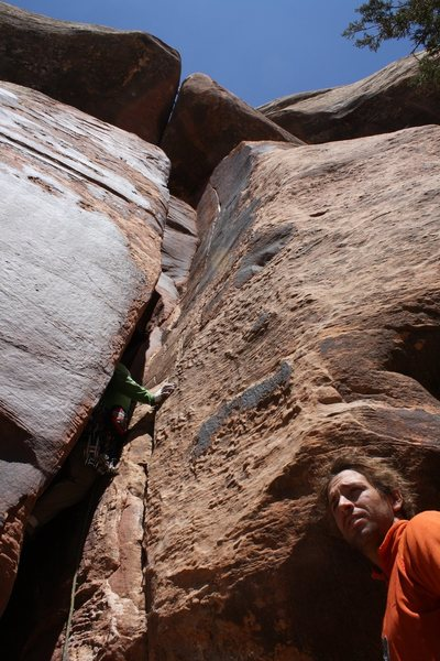 "Rock Climbing Photo: Pat Kingsbury under what would become ""Price ..."