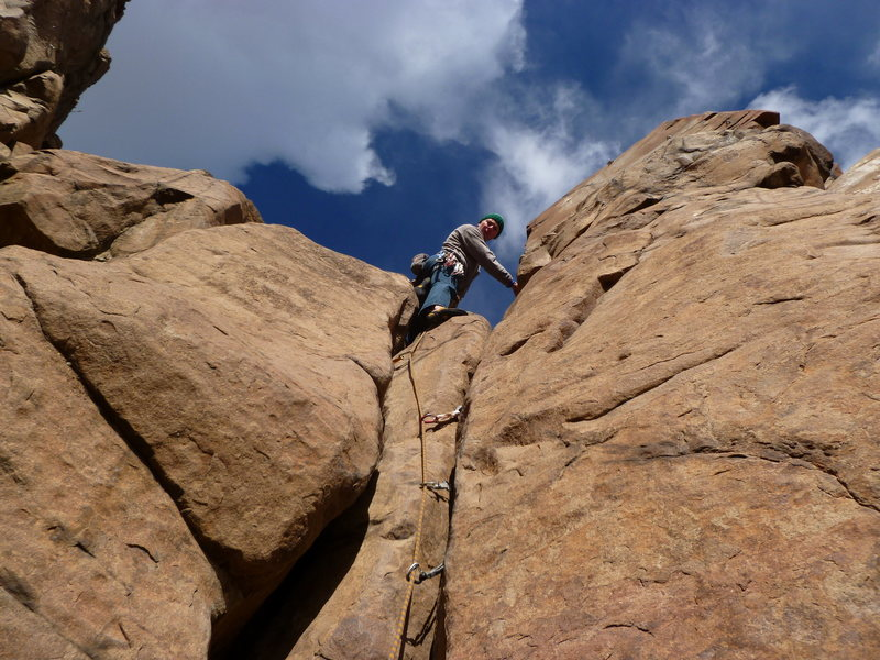 Rock Climbing Photo: At the top.  Short but sweet.