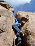 Rock Climbing Photo: Deep in the crack.