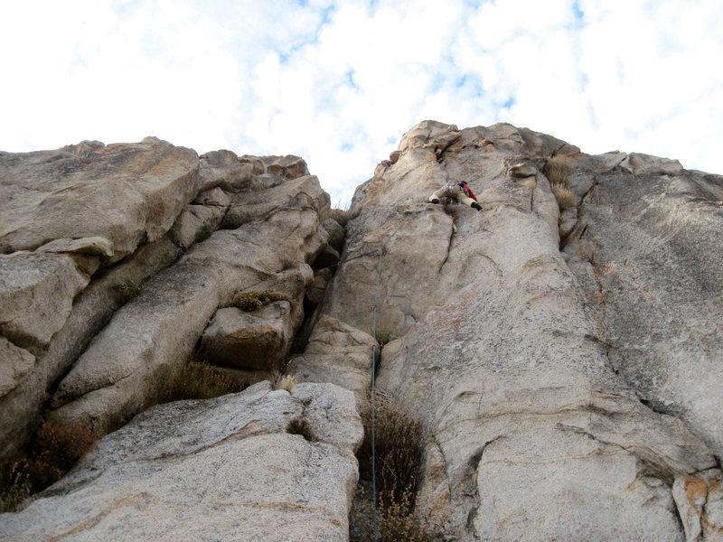Rock Climbing Photo: Karsten on FA of Winter Grasshopper