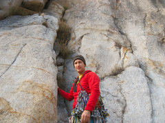 Rock Climbing Photo: Karsten prepares for launch.